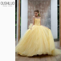 Yellow Sweetheart Quinceanera Dresses Ball Gown Sweet 15 Backless Lace Quinceanera Dress With Corset Beading Bow Party Dresses