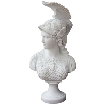 Athena Roman Goddess of Wisdom: Bonded Marble Figure Sculpture Design Toscano Minerva Bust Resin Crafts Home Decoration