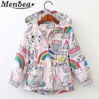 Menoea Girl Coats 2019 Hot Sale Autumn Baby Rose Jackets Kids outerwear Children Jackets Cartoon Print Outerwear Clothes