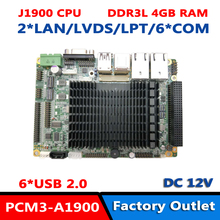 Безвентиляторная материнская плата на борту 4G DDR3L J1900 четырехъядерный процессор PCI-104 3,5 'Embedded SBC