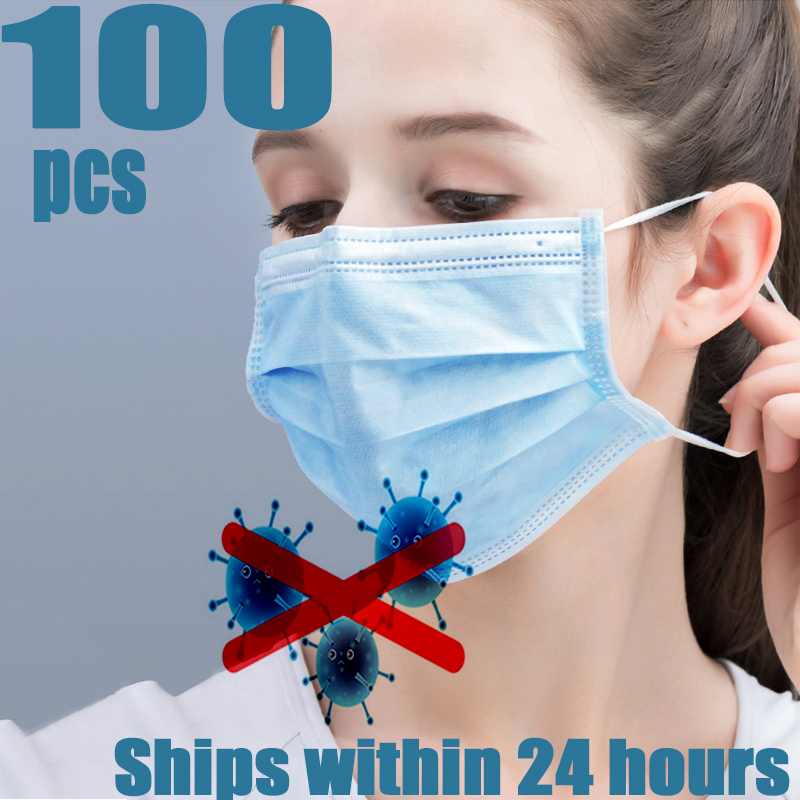 IN STOCK Mouth Mask Anti Dust Fog Profession MOUTH Mask 50Pcs PM2.5  Elastic Mouth Soft Breathable Face Mask K N9