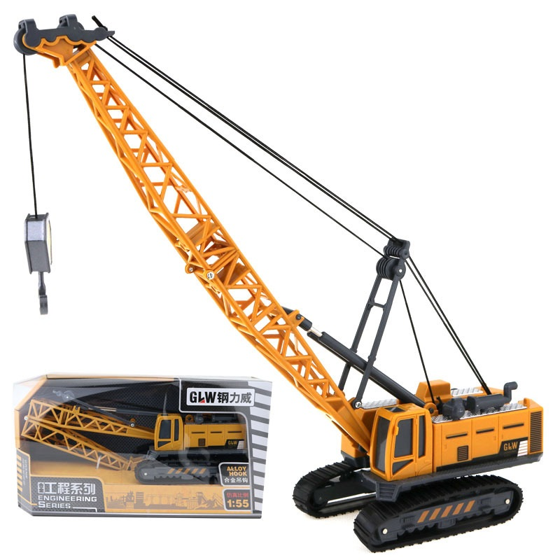 Die Cast Steel Build it Crane Lorry Vehicle Construction Model Kit Kids Toy
