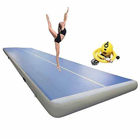 Free Shipping 6m/7m/8m*1m*0.2m Inflatable Gymnastics Airtrack Floor Tumbling Air Track For Kids Adult Free One Electronic Pump