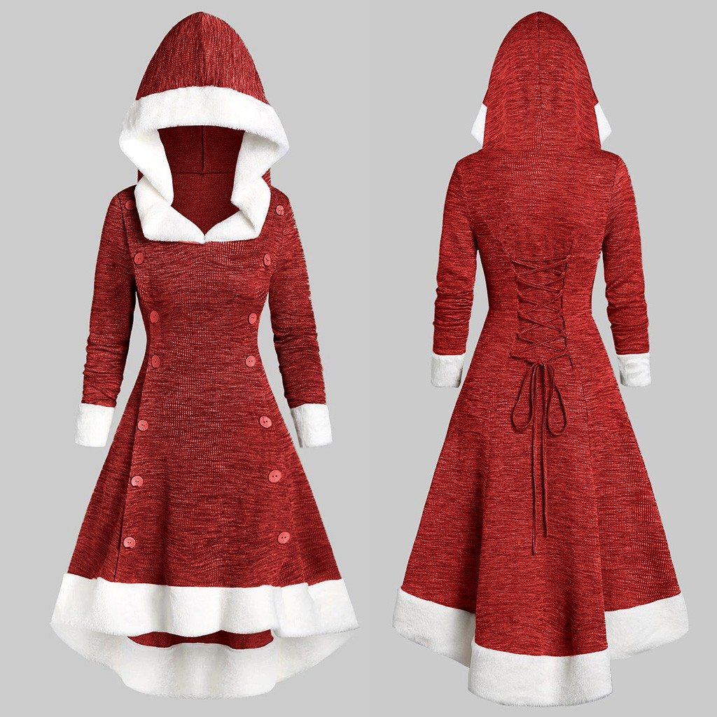 Dress Women Ropa Mujer Vestidos De Verano Dresses Vestidos Verano 2019 Mujer Vintage Christmas Patchwork Long Sleeve S-2XL Z4