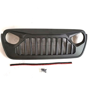 Image 5 - Car Styling Racing Grill For Jeep Wrangler JL 2018 2020 Front Mesh Race Mask Grills Modified Accessories