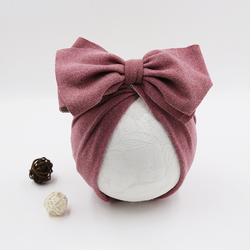 Cotton Baby Hat Newborn Baby Infant Baby Cap Newborn Baby Beanie Top Bow Knot Newborn Photography Props Baby Turban