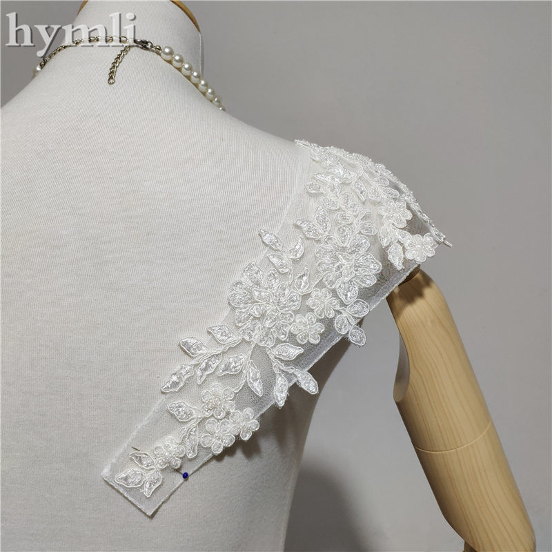 Beaded Straps Wedding Accessories Cap Sleeves Lace Bridal Shoulder Straps