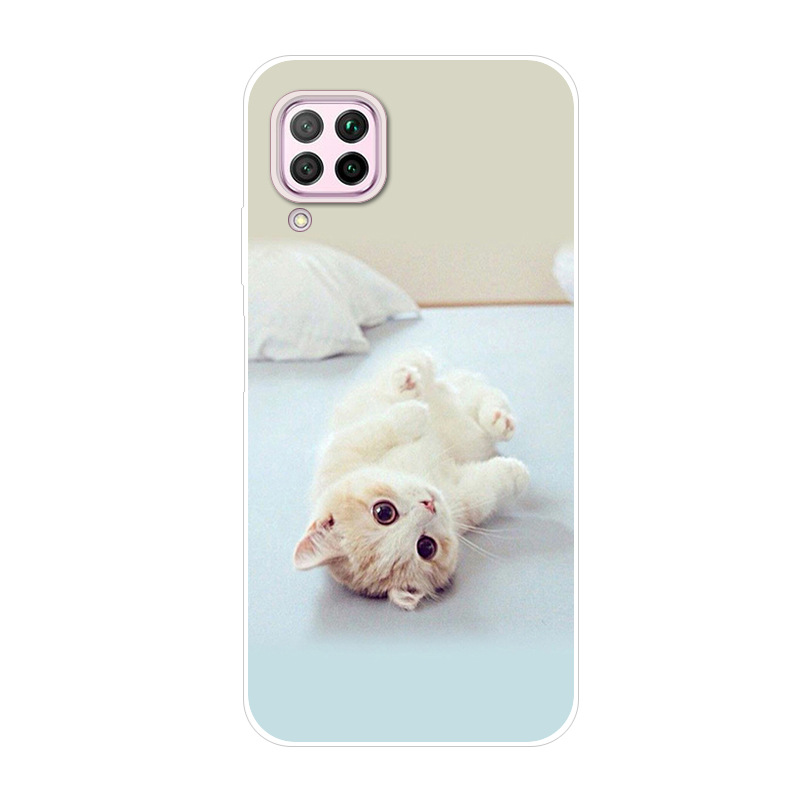 6.4'' For Huawei P40 Lite Case Silicone TPU Soft Phone Cover For Huawei P40 Lite Case Nova 7I P40lite P 40 Lite 2020 Phone Cases