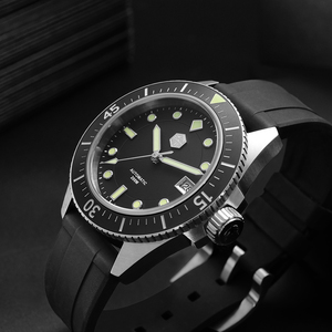 Image 3 - San Martin Diver Men Watch Stainless Steel NH35A Automatic Mechanical Sapphire Glass Rubber Strap Luminous Water Resistant 200M