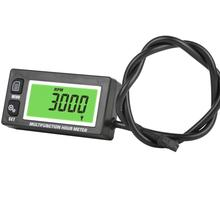 Inductive Temperature TEMP METER Thermometer Tachometer Max RPM Recall HOUR METER for UTV Motorcycle ATV Marine Boat RL HM028A