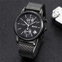 BOSS watch luxury fashtion mens watches 40mm quartz stopwatch All function Relogio all pointers work deisgner waterproof man