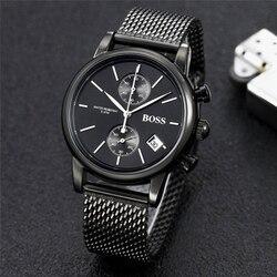 Relógio PATRÃO luxo fashtion relógios mens 40mm quartz cronômetro Toda a função Relogio todos os ponteiros de trabalho deisgner homem à prova d' água