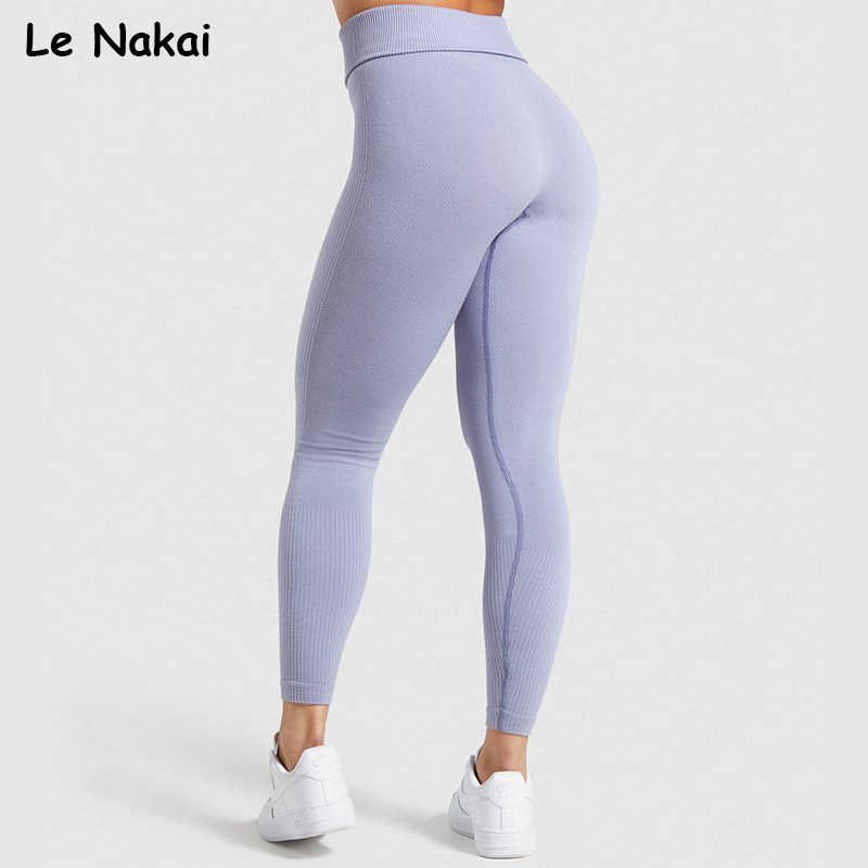 High waist power down seamless leggings sport women fitness gym leggings  booty legging sport yoga pants scrunch butt gym tights