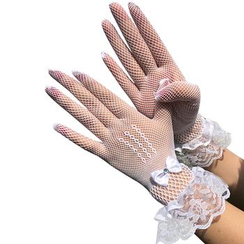 1 Pairs rękawiczki damskie koronkowe pełne rękawiczki krótkie rękawiczki tiulowe etykiety rękawiczki rozciągliwe lotosowe Sheers rękawiczki koronkowe rękawiczki tanie i dobre opinie KAIGOTOQIGO Stałe DO NADGARSTKA Dla osób dorosłych CN (pochodzenie) WOMEN NYLON moda Gloves Wedding Gloves Lace Gloves