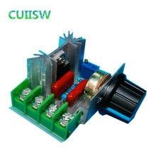 Regulador de voltaje de 2000W ac 220V, control de velocidad del motor, tiristor electrónico sin escobillas, regulador de intensidad Interruptor de control de temperatura
