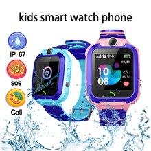 Смарт-часы для детей детский телефон-часы, умные часы для детей/мальчиков/девочек с сим-карты фото Водонепроницаемый IP67 подарок для IOS и Android