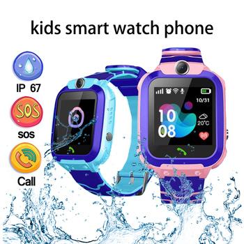 Smartwatch dla dzieci telefon dla dzieci zegarek Smartwatch dla chłopców dziewcząt z kartą Sim zdjęcie wodoodporny IP67 prezent dla IOS Android tanie i dobre opinie zouyun CN (pochodzenie) Z systemem Android Wear Dla systemu iOS Na nadgarstek Zgodna ze wszystkimi 128 MB Odbieranie połączeń