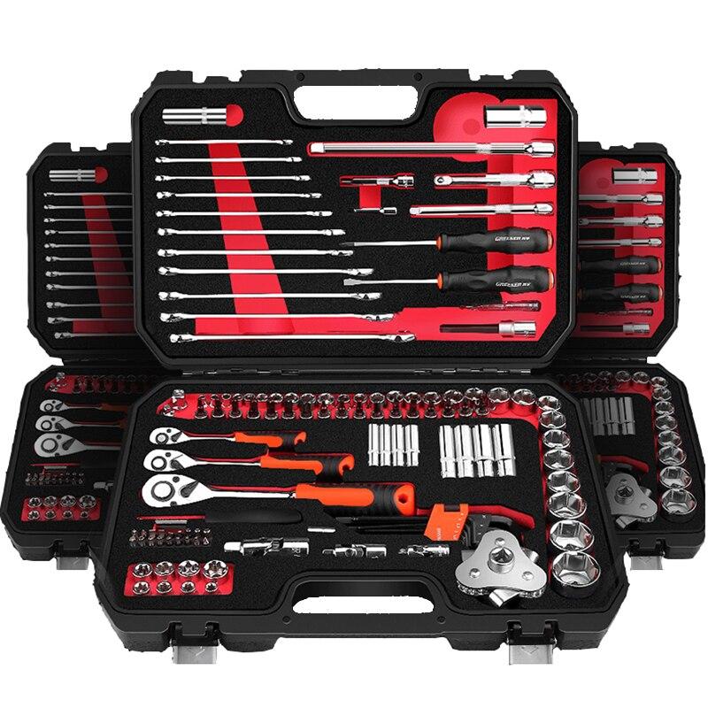 Auto Repair Tool Set Anti-shedding Mechanical Tool Set Screwdriver Ratchet Wrench Spanner Sleeve