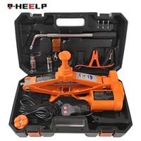 수동 렌치 및 휠 초크 및 무선 원격 전기 자동 리프트 가위 잭 리프팅 도구와 E-HEELP 12V 3ton 전기 자동차 잭