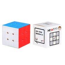 Promosyon Sengso Mr.M 3x3x3 manyetik sihirli küp Stickerless bulmaca profesyonel Shengshou mıknatıslar 3x3 hız Cubo Mgaico çocuk için oyuncak