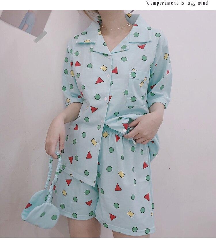 Harajuku Cotton Shiba Pattern Pajama Set 1