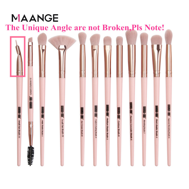 Makeup brushes set professional 12/14 pcs/lot Makeup Brushes Set Eye Shadow Blending Eyeliner Eyelash Eyebrow Brush For Makeup 4