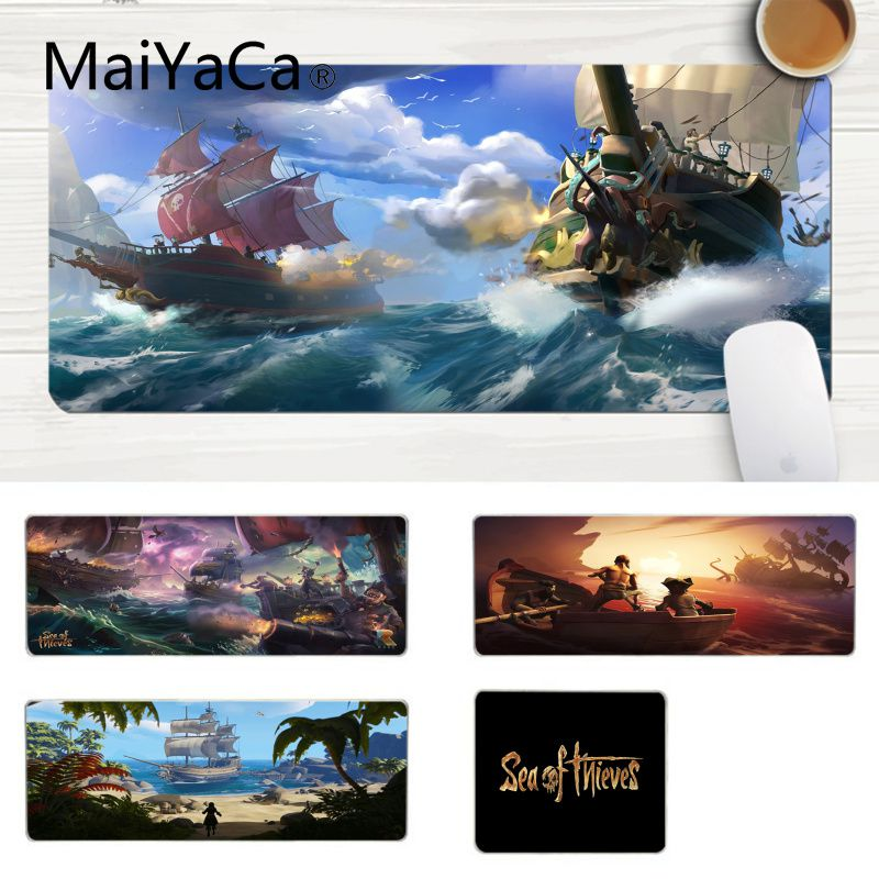 MaiYaCa Sea Of Thieves Achievements Large Mouse Pad PC Computer Mat Comfort Mouse Mat Gaming Lockedge Mousepad Gaming Mouse Pad