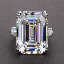 Huitan простые блестящие большие прямоугольные циркониевые женские кольца, белые/розовые камни, доступные свадебные кольца, высокое качество,...