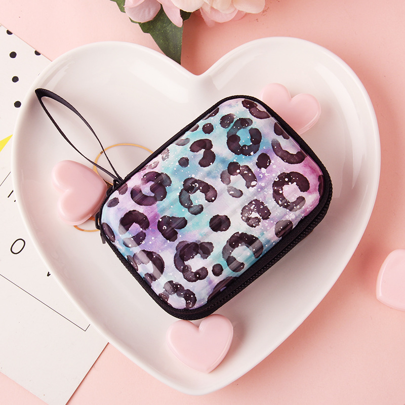 Creative Tinplate Zip Coin Purse Candy-Colored Drawing Wallet Casual Earphone Bag Hipster Printed Storgage Bag