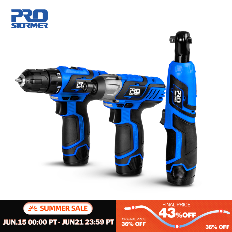 12V Series Cordless Power Tools Household DIY Electric Drill Screwdriver Wrench Ratchet Wrench Professional Tools by PROSTORMER|Electric Drills|   - AliExpress