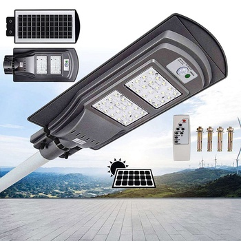 40W LED Street Light with Remote Controller and Light Arm LED Waterproof Radars Sensor Street Lamp for Outdoor Applications