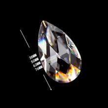38mm 50mm 63mm szklane siatkowe części do żyrandola Suncatcher kryształowy wisiorek do oświetlenia kryształowych wiszących kropli tanie tanio Kryształowy żyrandol Crystal grid prism pendant Clear Cystal chains for wedding decoration Crystal hanging pendant for lighting