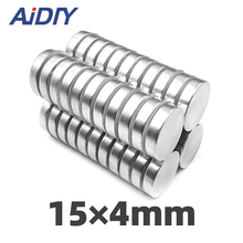 AIDIY 5/20/100 pcs 15x4mm permanent magnet small round super strong powerful rare earth magnets neodymium 15*4mm