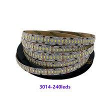 Dc24v 3014 smd 240 led/m 1200leds alto brilho ip20 não-impermeável fita flexível 5m/rolo da luz de tira do diodo emissor de luz