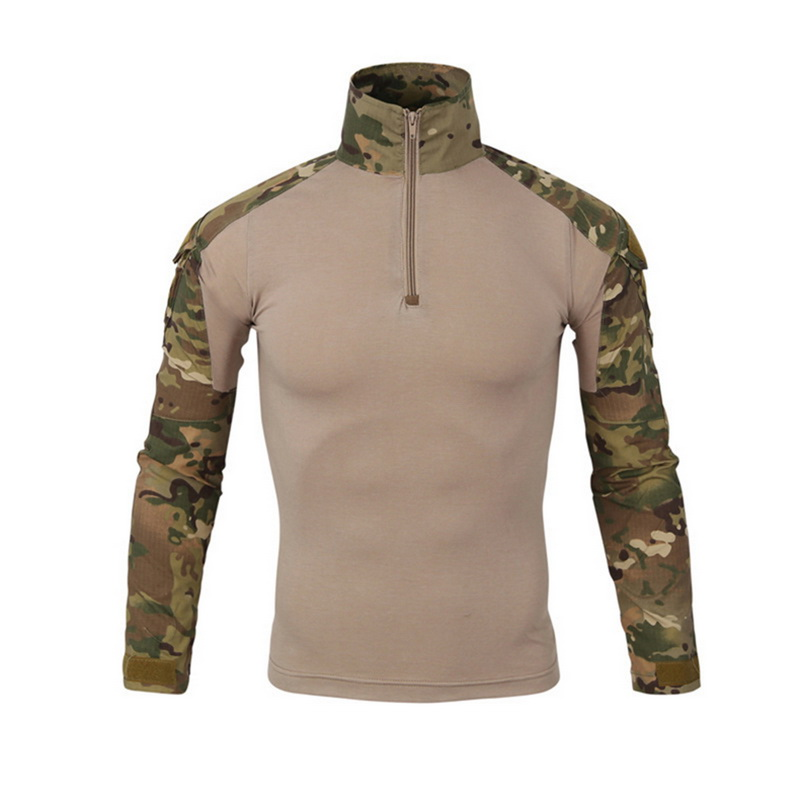 CYSINCOS Military Camouflage Patchwork Hoodies Pullovers Long Sleeve Turtleneck Sweatshirt Tactical Uniform Top Drop Shipping