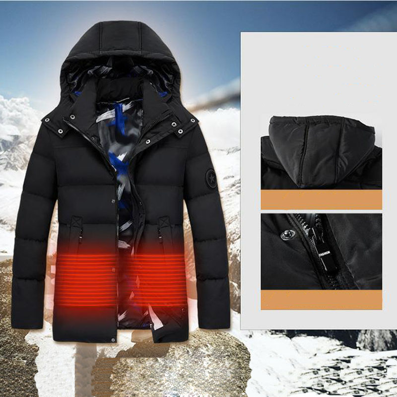 Men's Winter Outdoor Heating Sleeveless Jacket Heated Smart USB Work Coats Adjustable Temperature Control Safety Clothing DSY036
