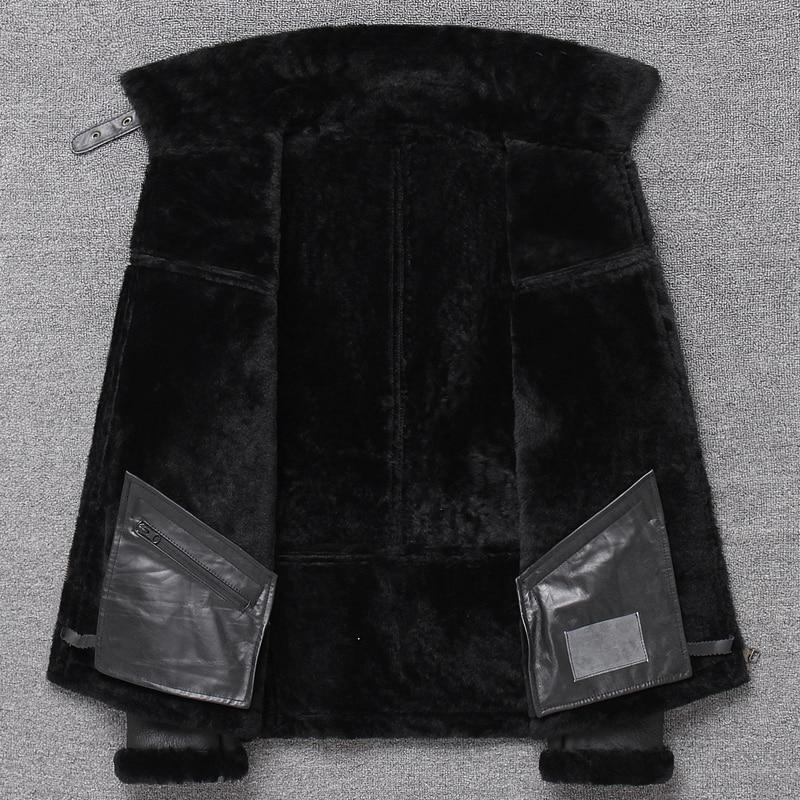 H0410a171d9b54cb38e98d2d7a4ca2842k Free shipping,Sales Winter Sheep fur coat,100% wool Shearling jacket,warm leather sheepskin coat.plus size classic motor style