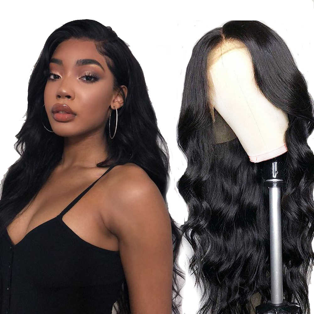 Brazilian Body Wave Human Hair Wigs 360 Lace Frontal Wig 150 180 Density For Women Pe-plucked Remy Hair