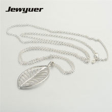 Silver Palm Tree Pendant Necklaces for Women 925 Sterling Silver link chain Necklace Women Fine Jewelry Jewyuer NC010(China)
