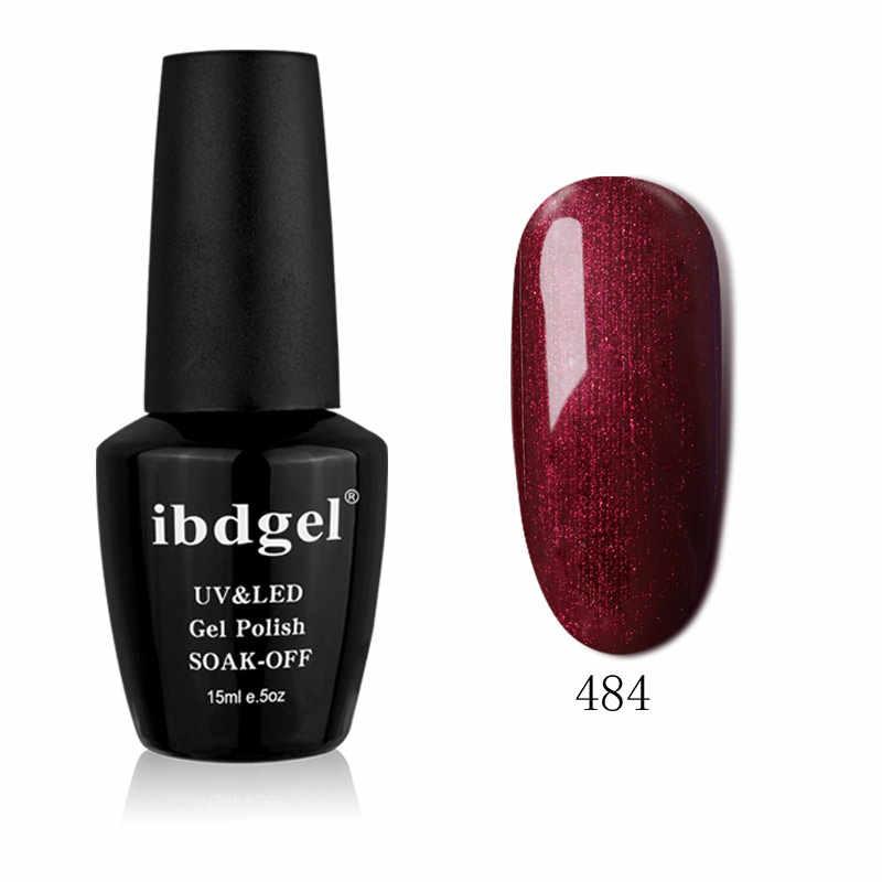 Ibdgel Hitam Botol 15 Ml 1PC 12 Warna Seri Baru Seni Sinar UV Rendam Off Teknologi Tinggi. kualitas Tinggi Kecantikan Tahan Lama Kuku Gelpolish
