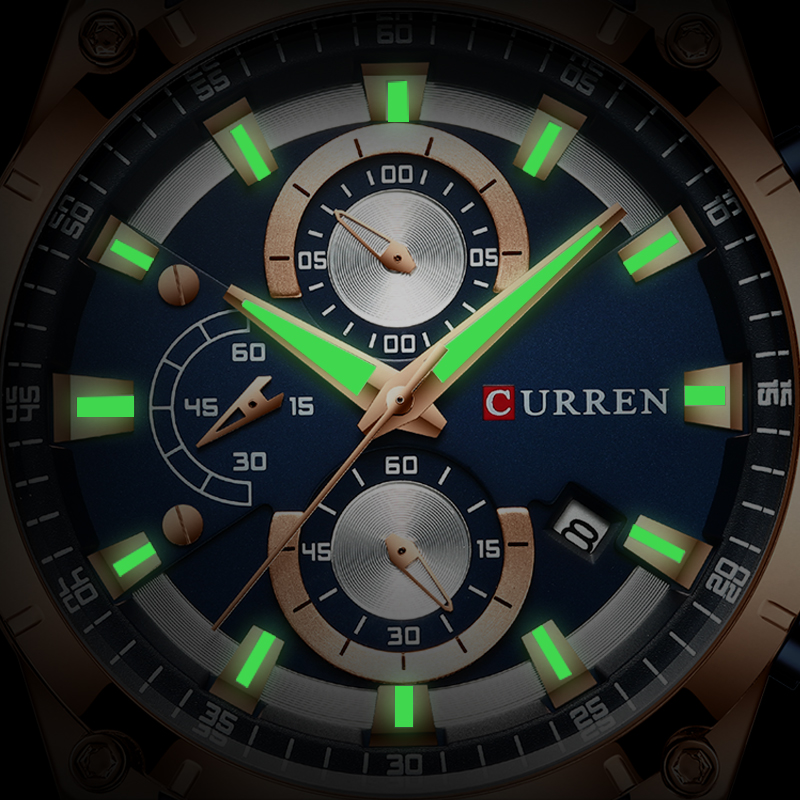 CURREN Men Watch Top Brand Luxury Fashion Quartz Men's Watches Steel Waterproof Wrist Watch Male Chronograph Relogio Masculino