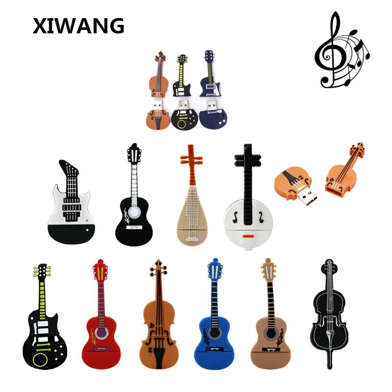Hot Cartoon Musical Instrument Violin Pen Drive 4GB 8GB 16GB Usb Flash Drive 32GB 64GB Pendrive Guitar Flash Memory Stick U Disk