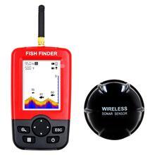Новинка, портативный беспроводной эхолот с сигнализацией 164 футов для рыбалки, гидролокатор, датчик 50 м, ЖК-дисплей, рыболокаторы с водонепроницаемостью IPx4