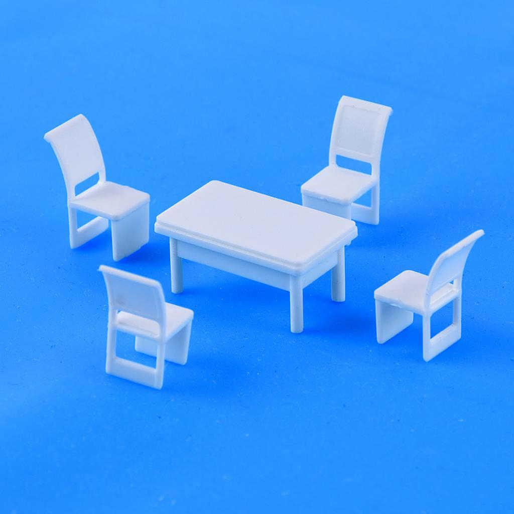 MagiDeal 1//50 O Scale Scenery Model Accessories Sofa Settee Tea Table Toy