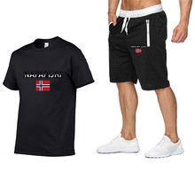 Conjunto de pantalones cortos de moda para hombre, conjunto de chándal de 2 piezas de verano, conjunto de pantalones cortos y pantalones cortos, Conjunto de camiseta informal para hombre, conjunto deportivo 2020