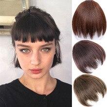 MANWEIFake челка девушки челка шиньон синтетические поддельные волосы кусок клип в наращивание волос тупой челки Клип на челку черный