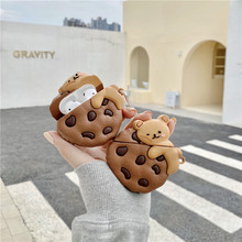 Cute Cartoon Cookie Bear Earphone Headset Accessorie Soft Case For Airpods 1 2 Pro Protective Wireless Bluetooth Headset Cover