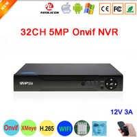 Hi3536C XMeye 8CH * 4K 8MP/32CH * 5MP Surveillance Video Recorder Viso di Rilevamento H.265 + 5MP 32CH 32 Channel one Sata Onvif CCTV NVR