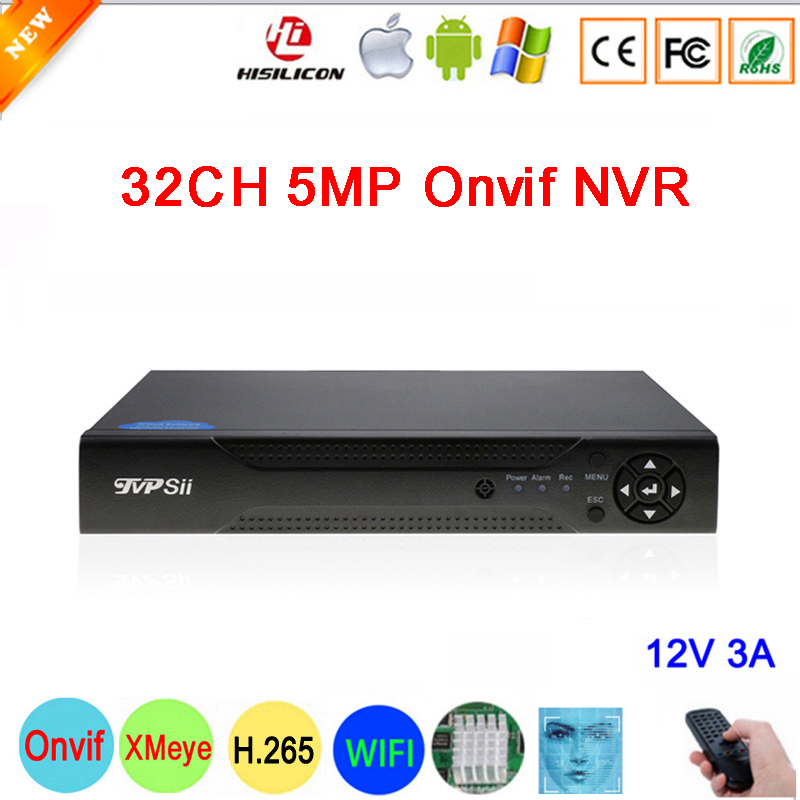 Hi3536C XMeye 8CH*4K 8MP /32CH*5MP Surveillance Video Recorder Face Detection H.265+ 5MP 32CH 32 Channel one Sata Onvif CCTV NVR