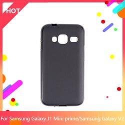Galaxy j1 mini caso prime matte macio silicone tpu capa traseira para samsung galaxy v2 telefone caso fino à prova de choque